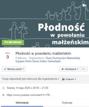 Zaproszenie na Facebooku